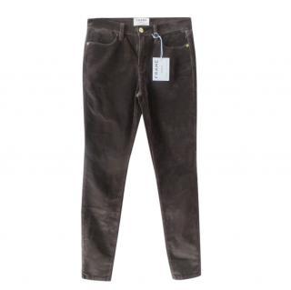 Frame Grey Le High Skinny Velvet Jeans