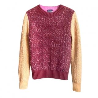 Chanel Cashmere Blend Colourblock Boucle Jumper