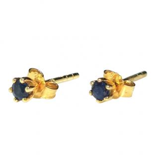 Bespoke Yellow Gold Sapphire Earrings