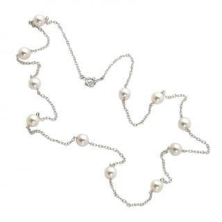 Mikimoto 18ct white gold & Akoya cultured pearl necklace