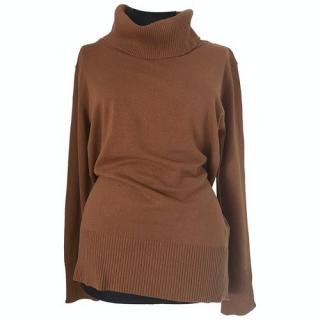 MaxMara brown wool roll-neck jumper