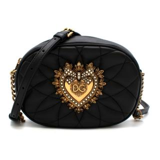 Dolce & Gabbana Devotion Black Leather Cross-body Bag