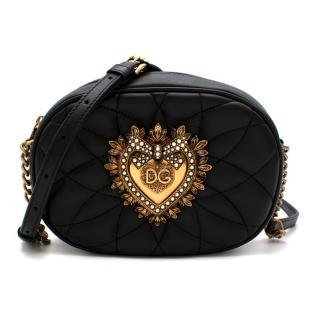 Dolce & Gabbana Devotion Black Leather Cross-body Bag