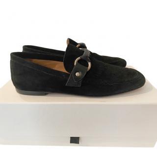 Isabel Marant black suede loafers