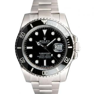 Rolex 40mm Stainless Steel Submariner Date Watch with Stainless Steel