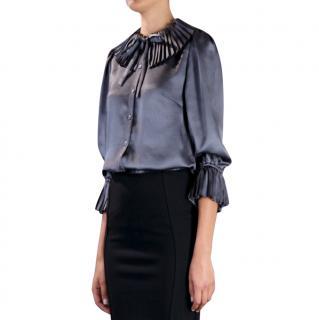 Dolce & Gabbana grey silk blouse