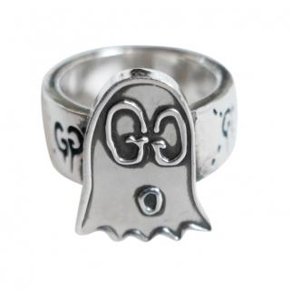 Gucci sterling silver Guccighost ring