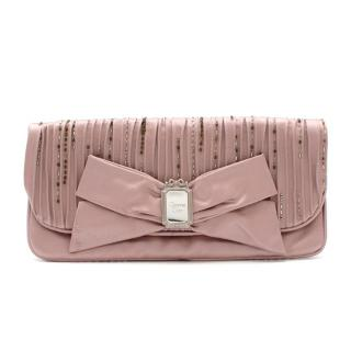 Christian Dior Limited Edition Mauve Embellished Clutch