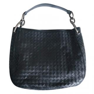 Bottega Veneta black small loop Intrecciato leather bag