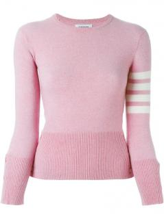 Thom Browne pink cashmere knit sweater