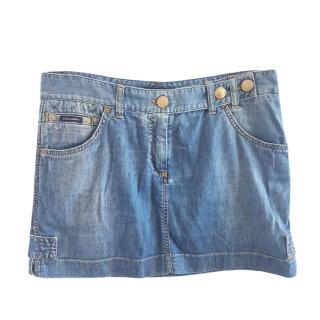 Dolce & Gabbana blue denim mini skirt