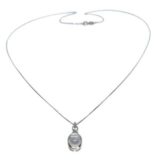 Elements Moonshine and Sapphire 9ct gold pendant necklace
