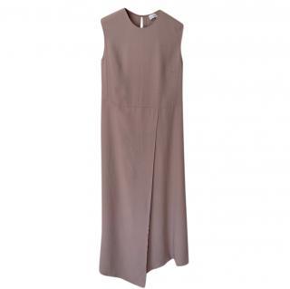 Raey pink viscose sleeveless midi dress