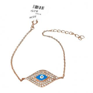 Fragments rose gold plated Evil Eye bracelet