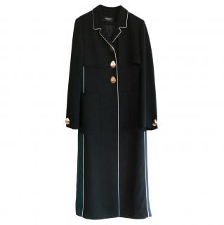 Heohwan Simulation Crepe Contrast Pipe Trench Coat