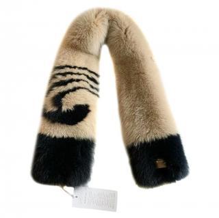 Genny Bespoke Two-Tone Shadow Fox Fur Stole