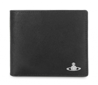 Vivienne Westwood Black Grained Faux Leather Kent Billfold Wallet