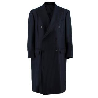 Crombie Navy Wool King Coat