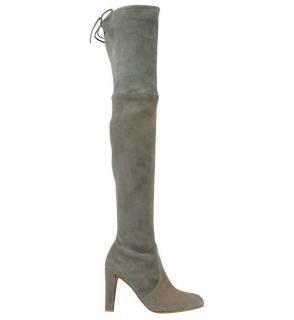 Stuart Weitzman Highland grey & taupe two-tone boots