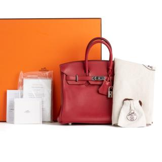 Hermes Swift Birkin 25 in Rouge Grenat PHW