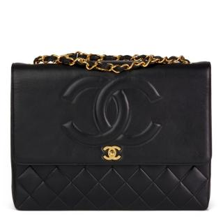 Chanel Vintage Smooth/Quilted Leather XL Flap