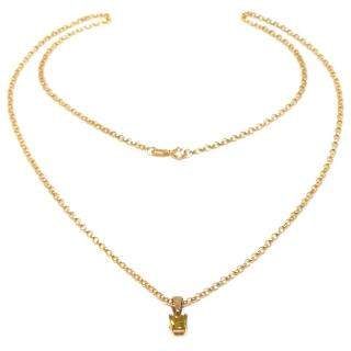 Cred 9ct gold & yellow Sapphire pendant necklace