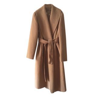 Max Mara Camel Virgin, Angora Wool, Alpaca Wrap Coat