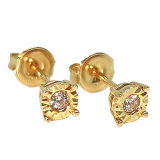 Bespoke Yellow Gold Sapphire Stud Earrings