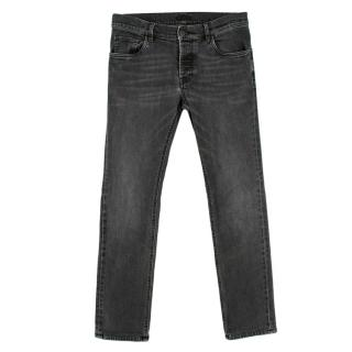 Prada Grey Wash Men's Slim Fit Jeans