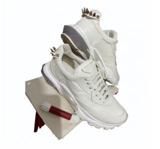 Valentino cream Rockstud Bounce sneakers
