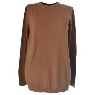 MaxMara brown virgin wool & cashmere blend jumper