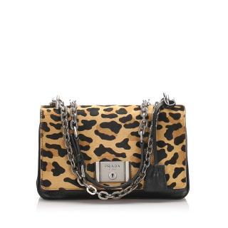 Prada Cavallino leopard print crossbody bag