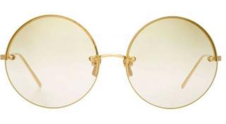 Linda Farrow gold plated round sunglasses LFL565/9