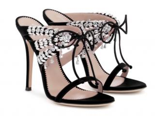 Giuseppe Zanotti Crystal Embellished Lace-Up Sandals