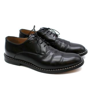 Fendi Staple Punched Trim Leather Oxfords