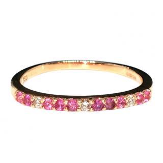 Bespoke 18ct Rose Gold, Sapphire & Diamond eternity ring