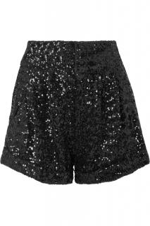 Isabel Marant Orta black sequin shorts