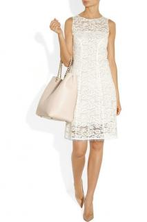 Nina Ricci off-white lace shift dress