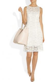 Nina Ricci off-white lace shift dress