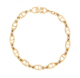 Dior Gold Tone CD Chain Bracelet