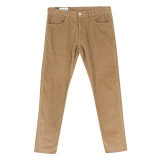 Gucci Velvet Corduroy Camel Trousers
