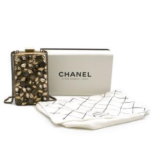 Chanel Limited Edition Gold Crystal Embellished Crossbody Bag