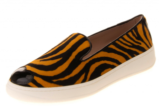 Hogan Katie Grand Loves Hogan zebra-print loafers