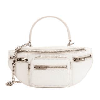 Alexander Wang Attica white cross-embossed leather crossbody bag