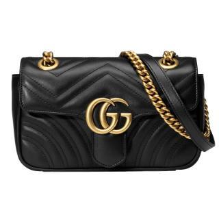 Gucci Marmont Matelasse mini black leather shoulder bag