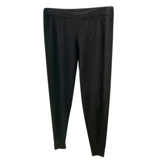 Donna Karan black wool sweat pants