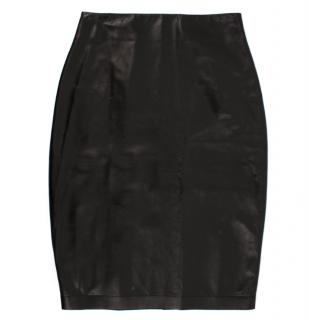 Tom Ford Lambskin Black Pencil Skirt