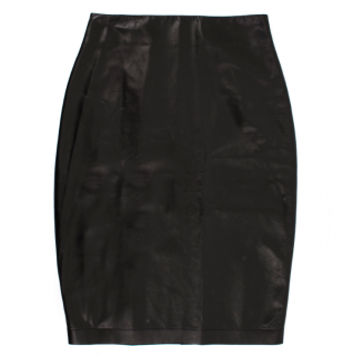 Tom Ford Lambskin Black Pencil Skirt