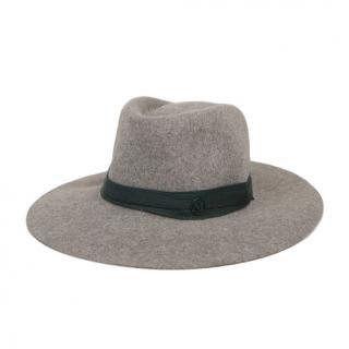 Maison Michel Charles wool-trimmed & felt fedora hat