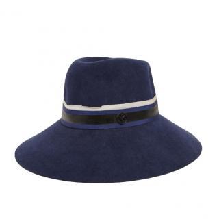 Maison Michel Rose wool & felt fedora hat